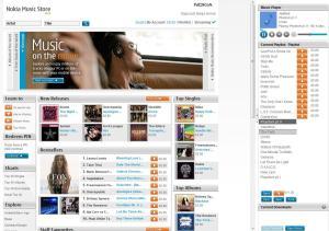 Nokia Music Store Homepage