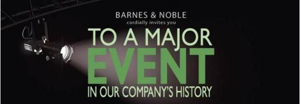 Zaproszenie na premierę czytnika B&N