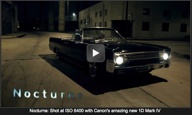 Film nakręcony w nocy Canonem 1D Mark IV przez Vincenta Laforeta